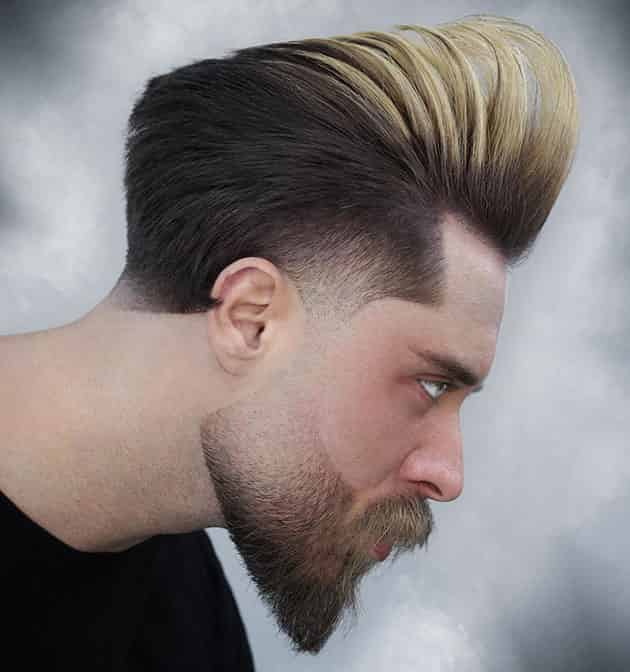 Nit Fade beard with Pompadour