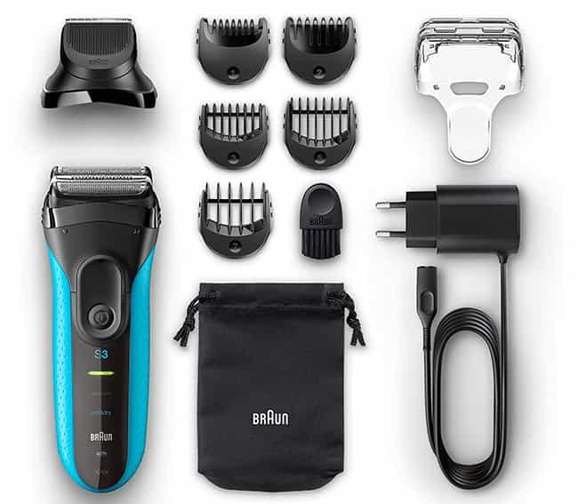 braun series 3 3010bt electric shaver attachements
