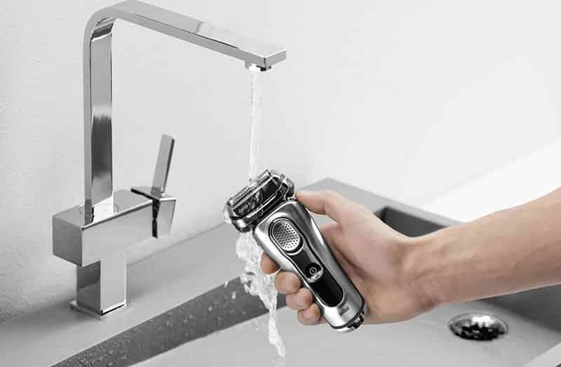 Braun 9390cc wet cleaning