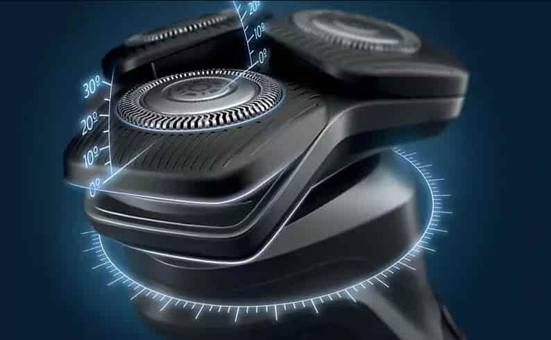How looks the new flex head of Philips series 5000 shaver